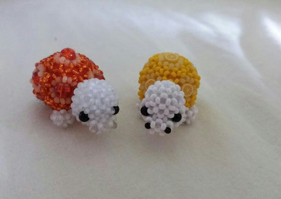 """""""Schildkröte"""",mit crackle beads und Zitronencane"""