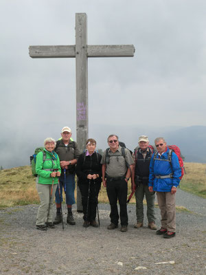 Die Gruppe auf dem Feldberg