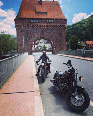Mit dem Motorrad unterwegs