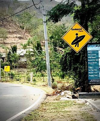 Surfers crossing
