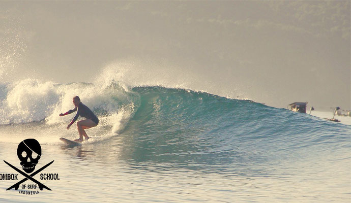Gerupuk inside - Stef´s surf is getting better