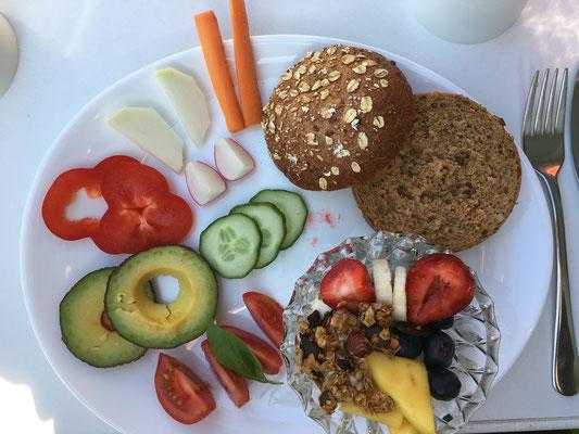 Mit heimischem Essen Frühstücken