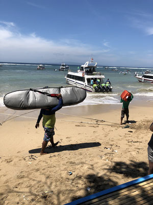 Bali to Lembongan by boat