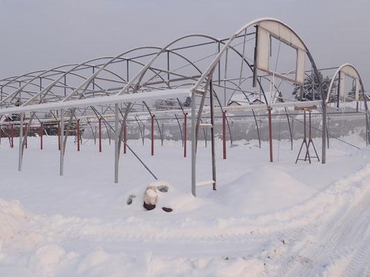 die Baustellen haben auch Winterpause