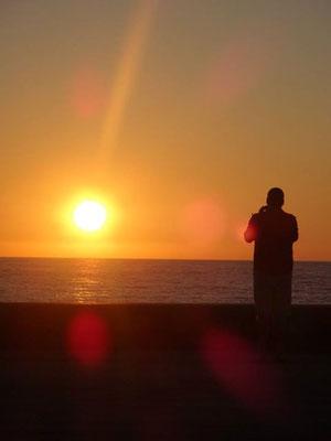 Coucher de soleil de Biarritz