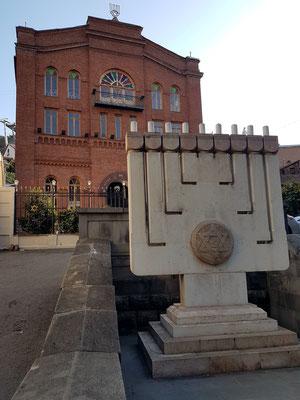 Eingang zur Großen Synagoge (errichtet 1913 - 1915 im Stil des Eklektizismus), geschütztes Kulturdenkmal