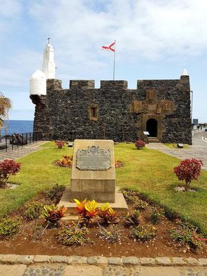 Garachico, Castillo de San Miguel, erbaut zur Abwehr von Piratenangriffen