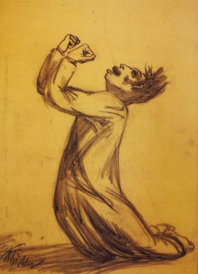 """Zeichnung in der Synagoge """"Zum Weißen Storch"""""""