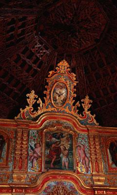 La Vega de Río de las Palmas, Altaraufsatz in der Dorfkirche
