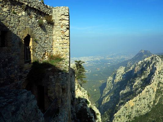 Sankt Hilarion, Blick hinab nach Kyrenia
