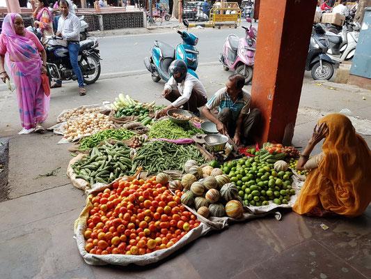 Verkauf von Gemüse