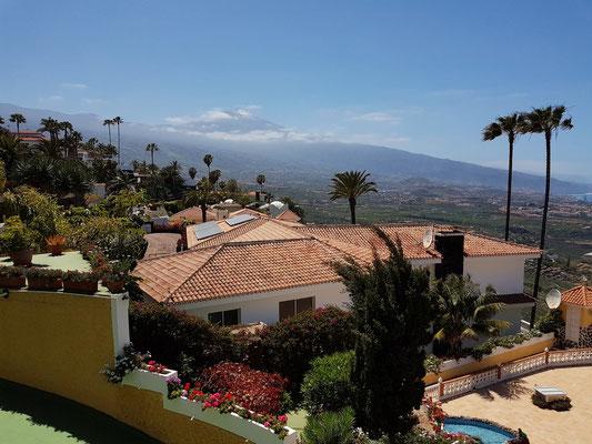 Café Vista Paraíso, Blick vom Café zum Pico de Teide