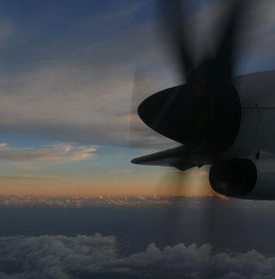 Flug von Hierro nach Teneriffa-Los Rodeos