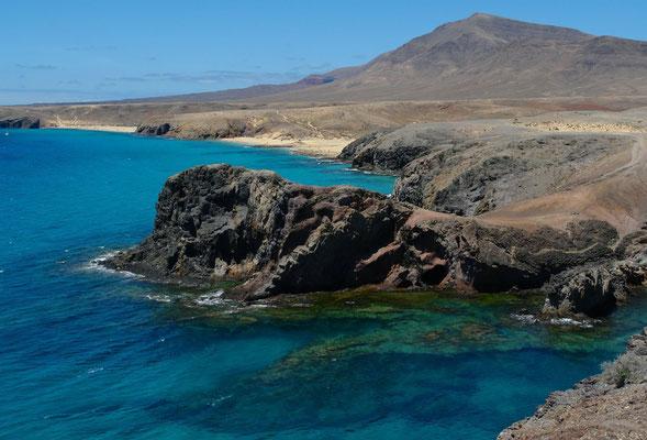 Playas de Papagayo, Blick von der Punta de Papagayo nach N