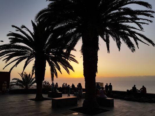 Sonnenuntergang am Mirador La Paz