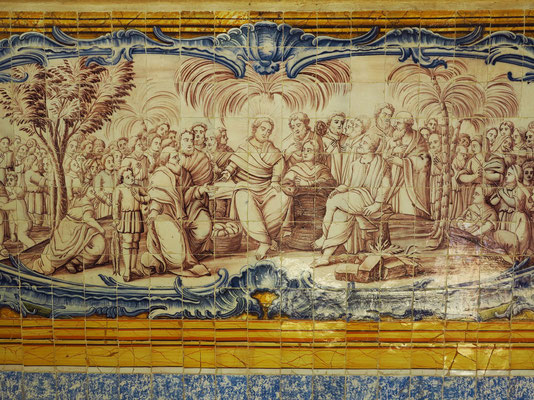 Hieronymus-Kloster (Mosteiro dos Jerónimos), Azulejos im Refektorium aus dem 18. Jahrhundert