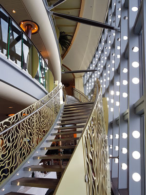 Treppenaufgang am Rand des Theatriums
