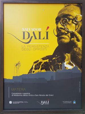 Dalí-Plakat zur Ausstellung in Matera 2019