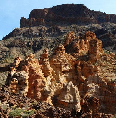 Las Cañadas. Wanderung zu den ockergelben Felsen vor der Montaña Guajara, dem höchsten Berg der Caldera-Umrandung (2717 m)