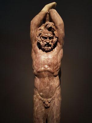 Die Statue von Marsia wurde 2009 in Rom gefunden, im Parco degli Acquedotti (zwischen den Straßen von Appia und Tuscolana), in der sogenannten Villa delle Vignacce.