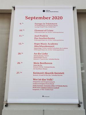 Kulturelle Veranstaltungen im Schloss Neuhardenberg im September 2020