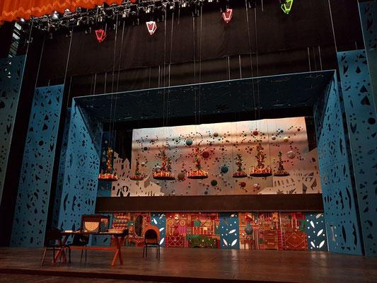 Bühnenbild zu einem Theaterstück