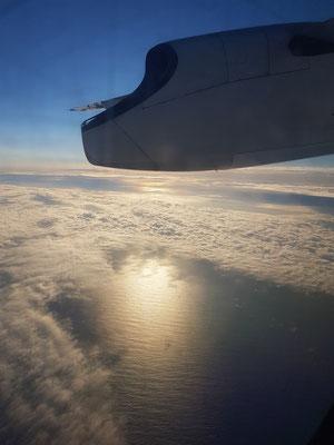 Weiterflug mit einer Bombardier Q 400 der Sata Air Açores nach Terceira (19:10 – 19:50)