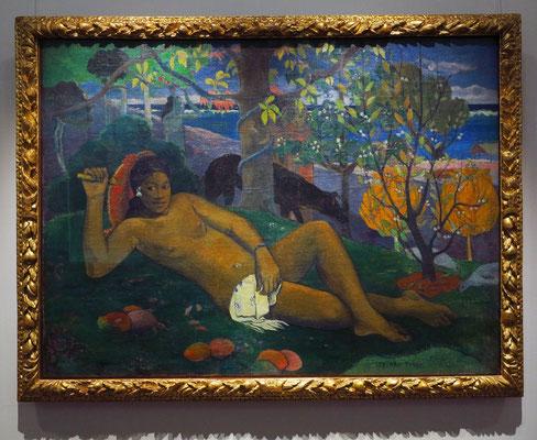 """Paul Gauguin (1848 - 1903): """"Die Königin, die Frau des Königs"""" (Te Arii Fahine), 1896"""