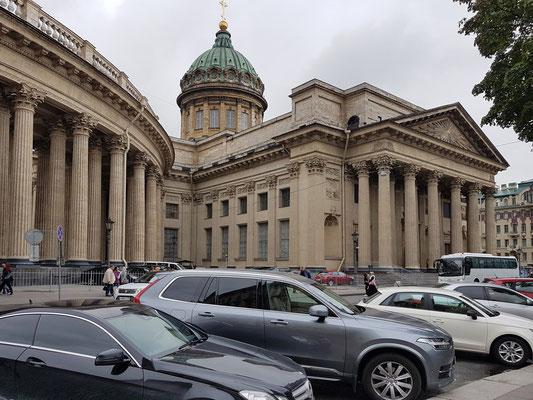 Kasaner Kathedrale, 1801 bis 1811 nach dem Vorbild des römischen Petersdoms errichtet