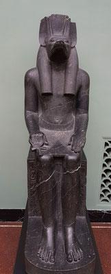 Schakalköpfiger Anubis, Gott der Mumifizierung und der Totenriten, aus einem Tempel in Luxor, 1403 - 1365 BC, Herrschaft von Amenophis III