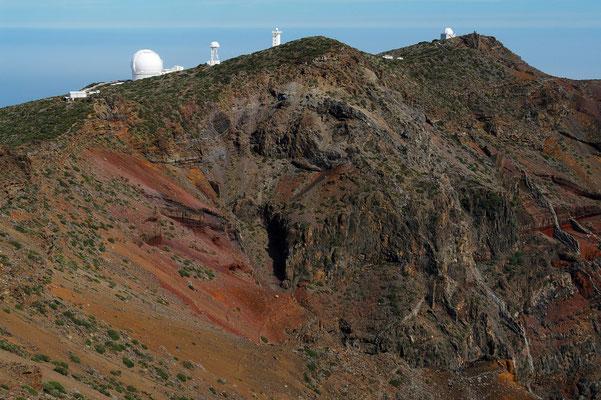 Blick vom Roque de los Muchachos über den Nordteil der Caldera (Aufnahme von 2006)