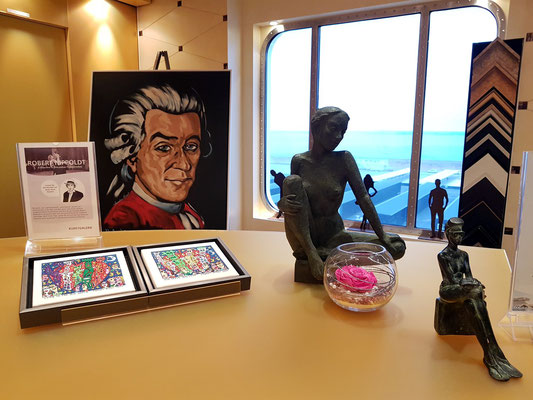 Kunstgalerie auf Deck 9