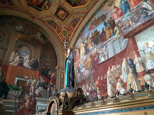 Saal der Immacolata. Der Maler Francesco Podesti arbeitete mit seinen Gehilfen von 1856 bis 1865 an diesem Projekt, das den ganzen Raum umfasste.