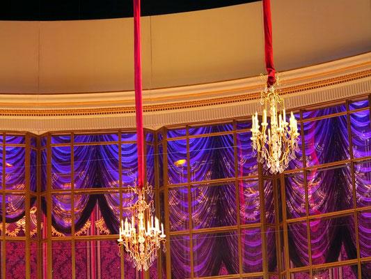 Bolshoi-Theater, Detail des Bühnenbildes (Ballsaal bei Flora Bervoix)