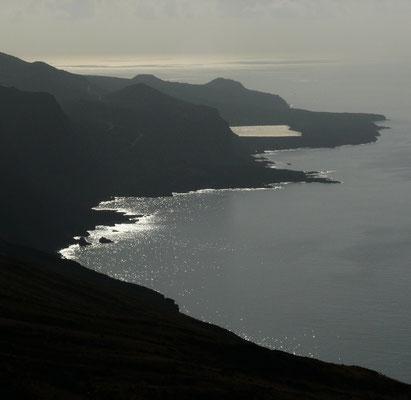 Blick von El Julán nach Südosten auf das Mar de las Calmas
