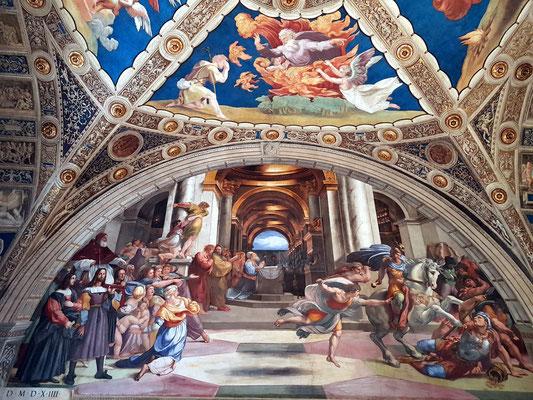 Raffaels Vertreibung des Heliodor, 1511-1514 (Stanza di Eliodoro)