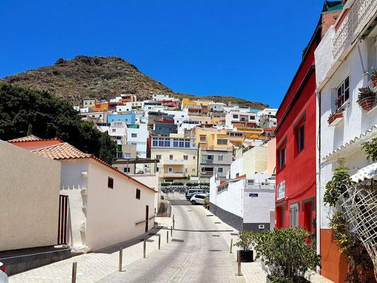 San Andrés, Blick nach Westen auf der Calle Rosario bergauf