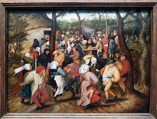 Pieter Brueghel der Jüngere (1564 - 1638), Hochzeitstanz im Freien