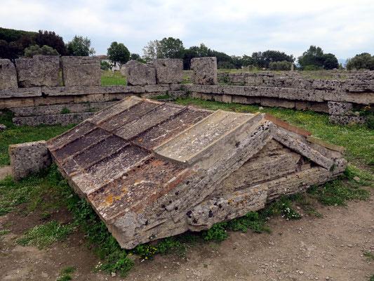Paestum. Heroon (Heiligtum oder ein Grabdenkmal eines Heros)