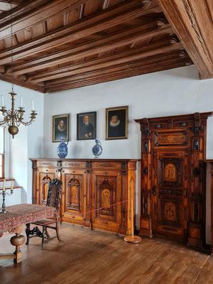 Wohnraum im Obergeschoss des Renaissanceschlosses