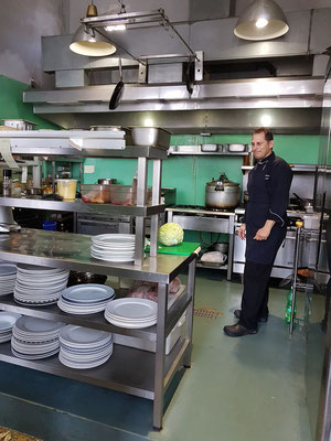 La Guarida, Blick vom Flur in die Küche