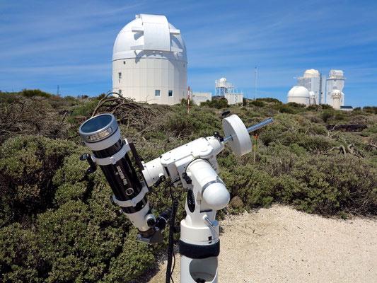 Tragbares Sonnenteleskop zur Betrachtung der Sonnenprotuberanzen