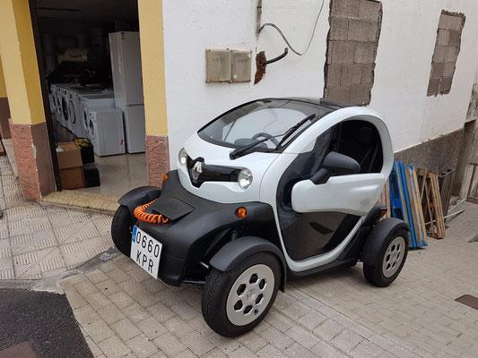 Die moderne Zeit hält Einzug auf Hierro: Twizi, ein Elektrofahrzeug von Renault