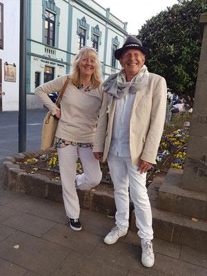 Eva und Michael in La Laguna
