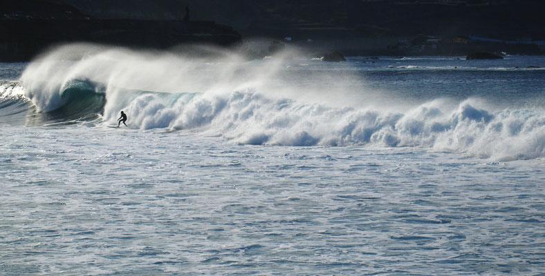 Las Palmas, Surfen an der Playa de las Canteras