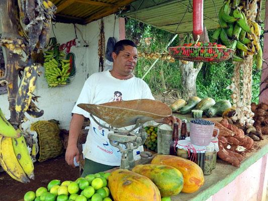 Gemüsehändler im Tal von Viñales