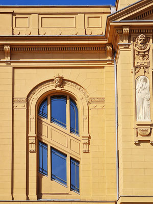 Detailansicht der Fassade