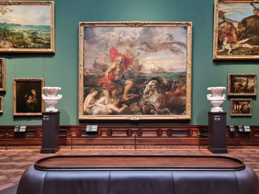 """Peter Paul Rubens: """"Quos ego"""" - Neptun, die Wogen beschwichtigend, Öl auf Leinwand, um 1635"""