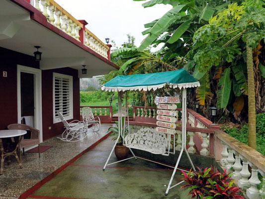 Im Garten der Privatpension Casa Dra. Maria Luisa Diaz Arencibia