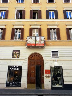 Goethehaus (Casa di Goethe), Via del Corso, 18. Hier lebte Goethe während seiner italienischen Reise von 1786 bis 1788 bei seinem Freund Johann Heinrich Wilhelm Tischbein.